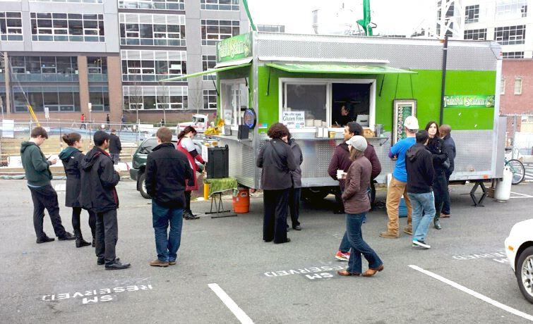Falafel Salam food-truck at South Lake Union